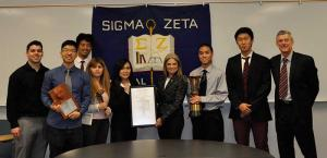 College of the Canyons Sigma Zeta Charter Members with Sigma Zeta Executive Director Dr. Jim Hall