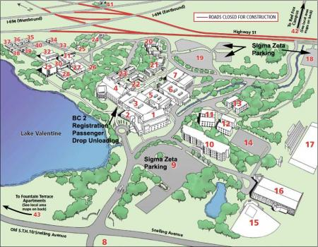 Sigma Zeta Convention 2014 Parking Map